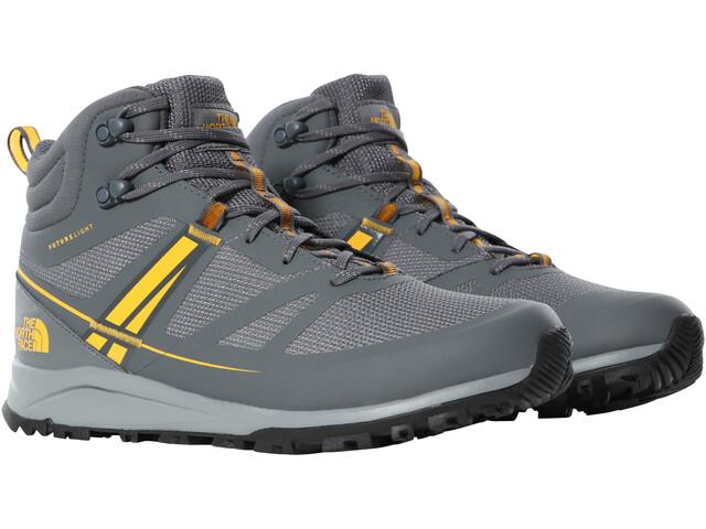 The North Face Litewave FutureLight Mid Shoes Men, zinc grey/saffron